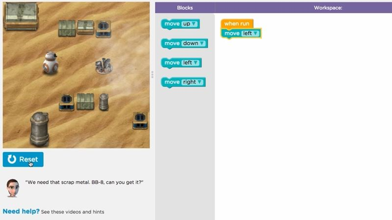 Noobarmyrbx Codes Code Org Star Wars Building A Galaxy With Code Blockly